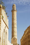 Minaret. With stone decors from selcuklu Stock Photo