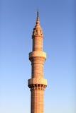 Minaret. On the sky background, Suleiman Mosque, Rhodes, Greece royalty free stock photos