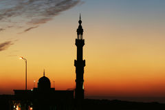 Minaret. In Cairo on the sunset Royalty Free Stock Photo