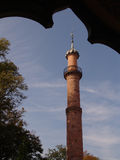 Minaret. One of the minarets of the mosque at the electoral gardens at Schwetzingen near Heidelberg in Germany Royalty Free Stock Photography