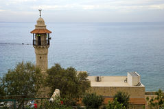 Minaret. Image of the minaret of a mosque in Jaffa, Israel Royalty Free Stock Photo