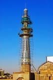 Minaret in aanbouw Stock Foto