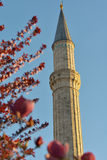 Minaret against blue sky Royalty Free Stock Images
