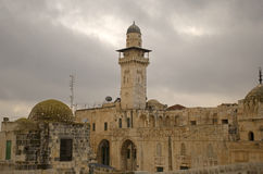 Minaret of Al Aksa Mosque, Jerusalem, Israel Stock Photography