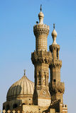 The minaret of Al-azhar mosque in cairo Royalty Free Stock Photo