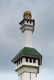 Minaret of Al Azim Mosque in Malacca, Malaysia Stock Image