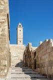 Minaret in aleppo citadel landmark in syria Stock Photo