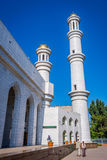 Minaret of Almaty central mosque, Kazakhstan Stock Photo