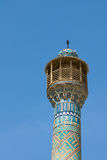 Minaret in an ancient city of Isfahan Royalty Free Stock Photo