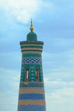 Minaret in ancient city of Khiva Royalty Free Stock Images