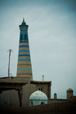 Minaret in ancient city of Khiva Stock Photography
