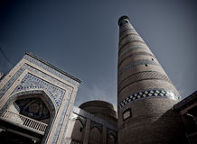 Minaret in ancient city of Khiva Royalty Free Stock Image