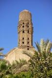 Minaret of ancient mosque Stock Photos