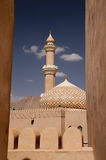 Minaret of the arabic Nizwa Fort in Nizwa, Oman Stock Images