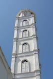 Minaret av Abidin Mosque i Kuala Terengganu, Malaysia Fotografering för Bildbyråer