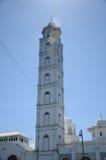 Minaret av Abidin Mosque i Kuala Terengganu, Malaysia Royaltyfria Foton