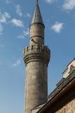 Minaret av den Caferiye moskén i Erzurum Arkivbilder