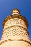 Minaret av den Kharanagh byn, Iran Arkivfoton