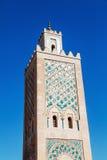 Minaret av den Koutoubia moskén i Marrakesh Fotografering för Bildbyråer