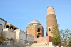Minaret av den Masum schah arkivbilder