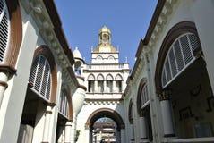 Minaret av den Muhammadi moskén den Kelantan statmoskén i Kelantan, Malaysia Royaltyfri Foto