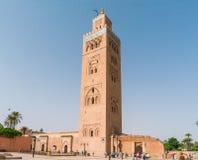 Minaret av Koutoubia-moskén Arkivbild
