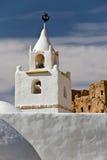 Minaret av moskén av Chenini, södra Tunisien Royaltyfri Bild