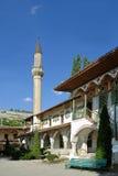 Minaret av slotten av den Crimean Khanen till den inre gården Arkivfoto