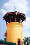 Minaret Batak Rabit meczet w Teluk Intan, Perak Obraz Royalty Free