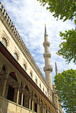 Minaret of the Blue mosque Stock Image