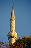Minaret of Blue Mosque, Istanbul, Turkey Stock Images
