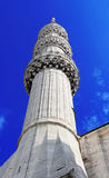 Minaret of Blue Mosque, Istanbul Stock Images