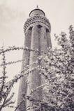 Minaret cannelé par Yivli magnifique du Mosquee d'Antalya photo stock