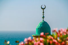 Minaret with a crescent Royalty Free Stock Image