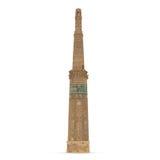 Minaret dżem Afganistan na Białym tle Zdjęcia Stock
