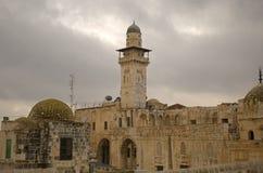 Minaret d'Al Aksa Mosque, Jérusalem, Israël Photographie stock