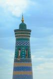 Minaret dans la ville antique de Khiva Images libres de droits