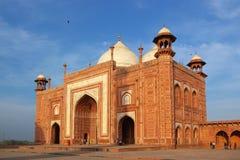 Minaret dans Taj mahal photographie stock