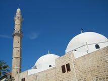 Minaret de Jaffa et dômes de la mosquée 2011 de Mahmoudiya Photos libres de droits
