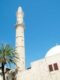 Minaret de Jaffa Mahmoudiya mosquée en mars 2011 Photo stock