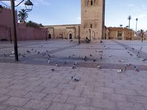 Minaret de la Koutoubia, Marrakesh, Marruecos imagen de archivo