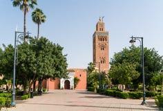 Minaret de la Koutoubia-mosquée Photo libre de droits