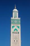 Minaret de la mosquée de Hassan II Images libres de droits