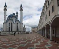 Minaret de mosquée de Qolsharif à Kazan Russie photographie stock
