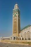 Minaret de mosquée du ` s de Casablanca, Maroc image libre de droits