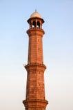 Minaret de mosquée Lahore, Pendjab, Pakistan de Badshahi Photos stock