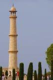 Minaret de Taj Mahal Images libres de droits