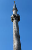 The Minaret of Dolmabahce Mosque, Istanbul. Royalty Free Stock Image