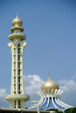 Minaret and dome of Penang State Mosque in Penang. PENANG, MALAYSIA – APRIL, 2014: The Penang State Mosque or Masjid Negeri Pulau Pinang is a state mosque royalty free stock image