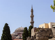 Minaret and Dome of The Suleiman Mosque Royalty Free Stock Photo